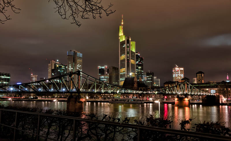 frankfurt skyline aeria 25 Stunning Skylines Around the World