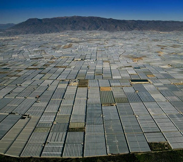Greenhouses in San Augustin near Almería, Andalusia, Spain