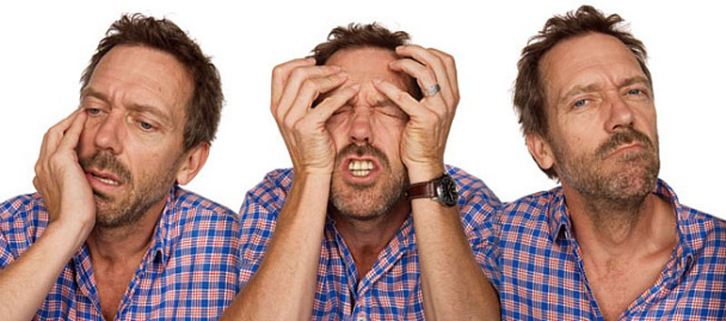 hugh laurie acting in character Funny Faces: Famous Actors Acting Out [20 Pics]