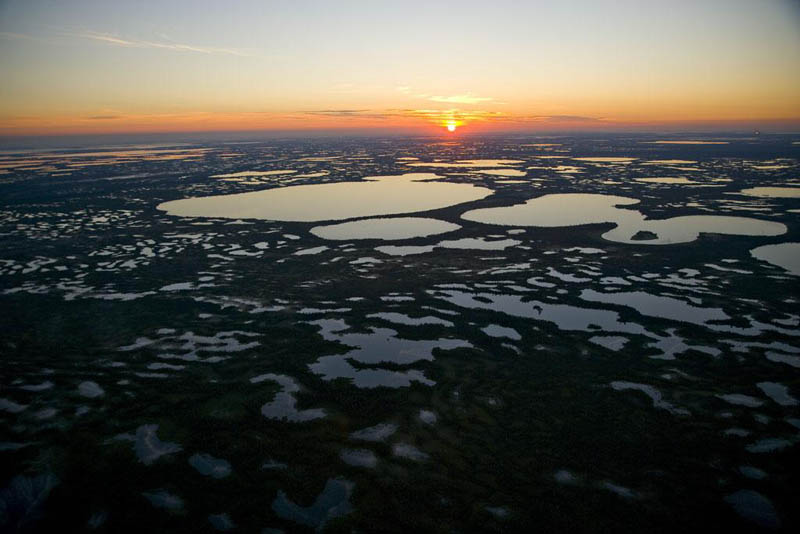 humid area near surgut siberia russia 25 Mind Blowing Aerial Photographs Around the World