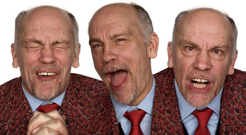john malkovich acting in character Funny Faces: Famous Actors Acting Out [20 Pics]