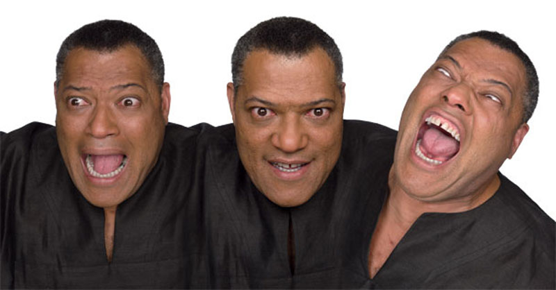 laurence fishburne acting in character Funny Faces: Famous Actors Acting Out [20 Pics]