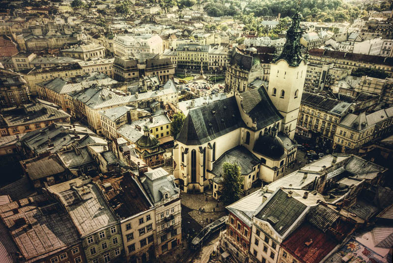 lviv ukraine skyline aerial 25 Stunning Skylines Around the World
