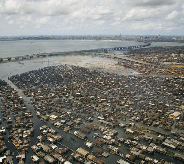 Makoko shanty town, Lagos lagoon, Nigeria