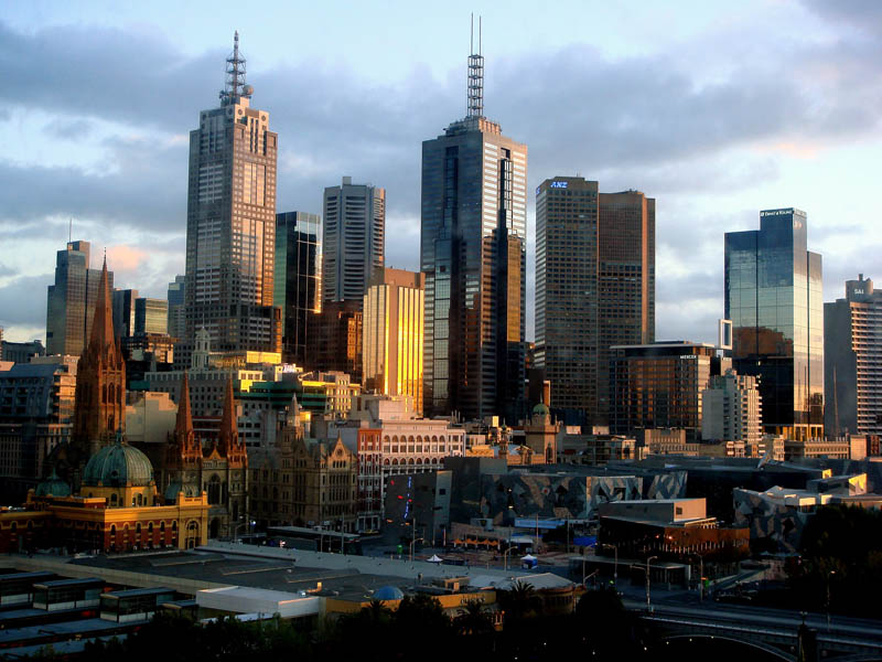 melbourne australia skyline aerial 25 Stunning Skylines Around the World