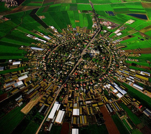 Moshav (co-operative village) farm at Nahalal, Israel