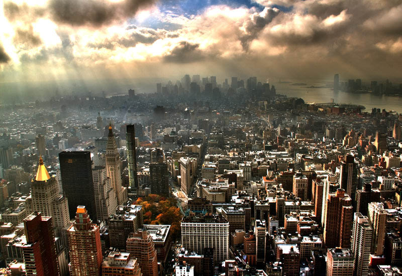 new york city skyline aerial 25 Stunning Skylines Around the World