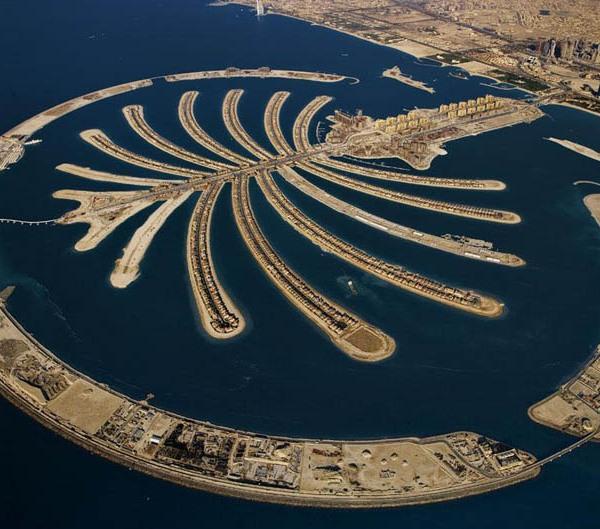 Palm Jumeirah artificial island, Dubai, United Arab Emirates