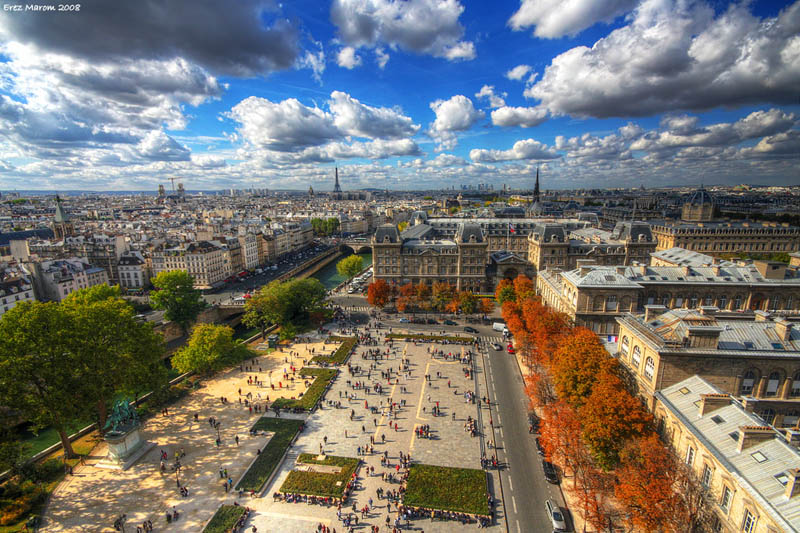 paris france skyline aerial 25 Stunning Skylines Around the World