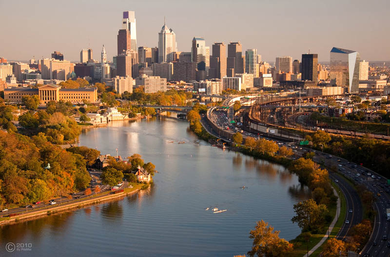 philadelphia skyline aerial 25 Stunning Skylines Around the World