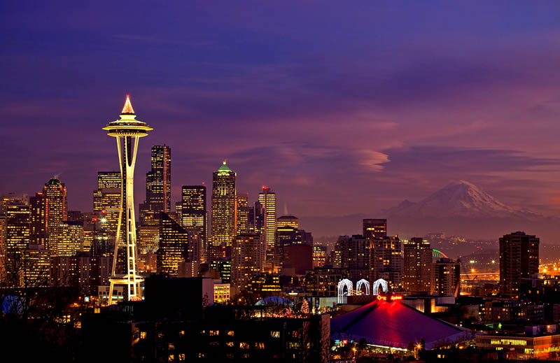 seattle skyline aerial 25 Stunning Skylines Around the World