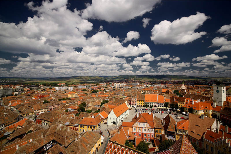 sibiu romania skyline aerial 25 Stunning Skylines Around the World