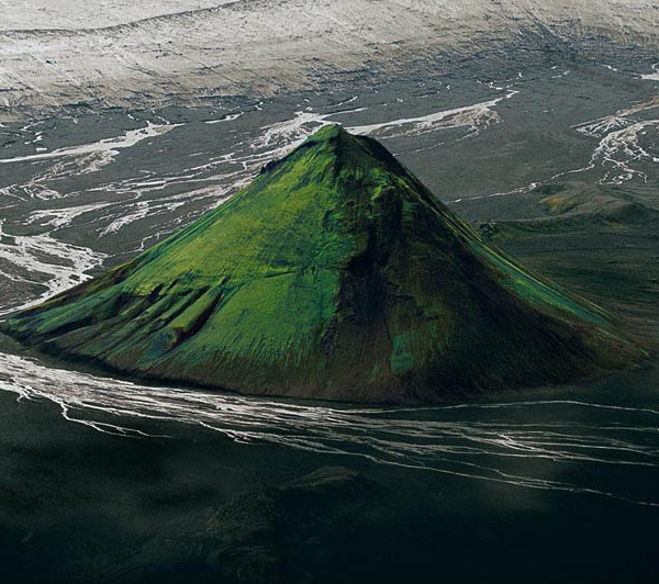 The Maelifell volcano on the edge of the Myrdalsjökull glacier, Iceland