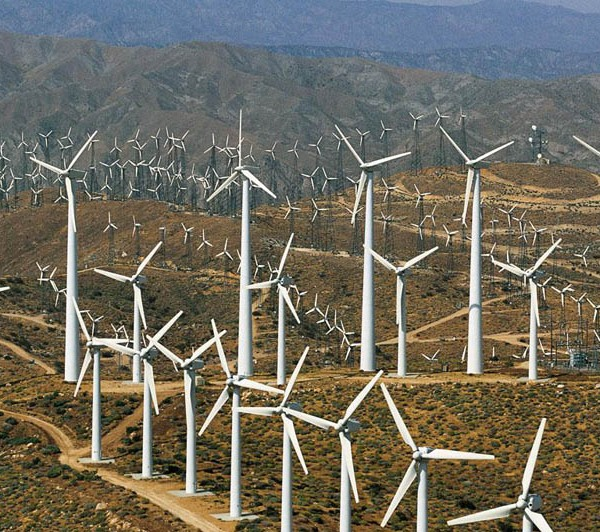 Windmills of Banning Pass, near Palm Springs, California, United States