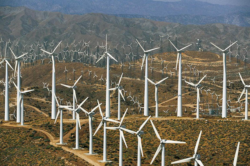windmills of banning pass near palm springs california united states 25 Mind Blowing Aerial Photographs Around the World