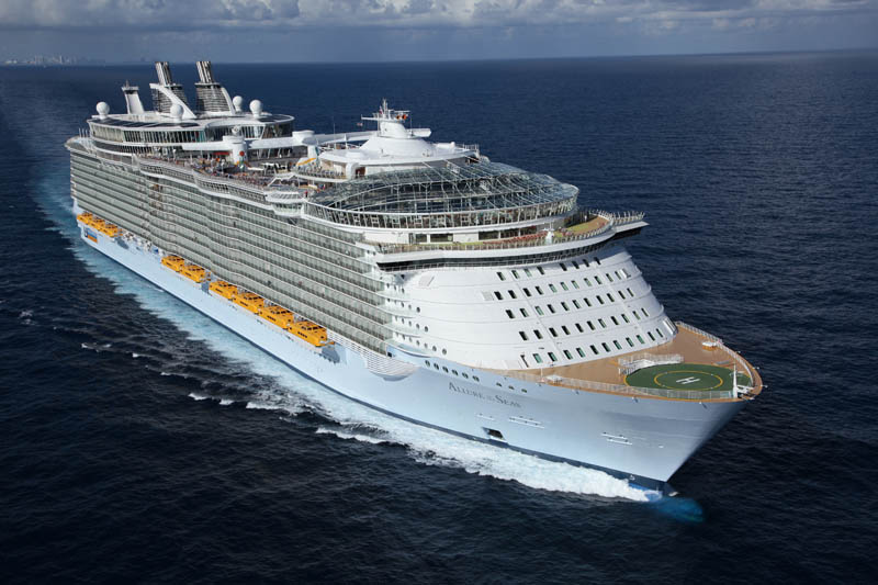 The Worlds Largest Cruise Ship Allure Of The Seas TwistedSifter - List of largest cruise ships