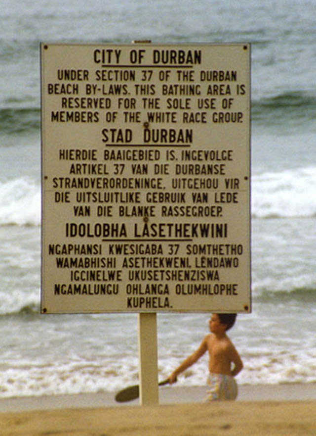 apartheid sign in durban This Day In History   April 27th