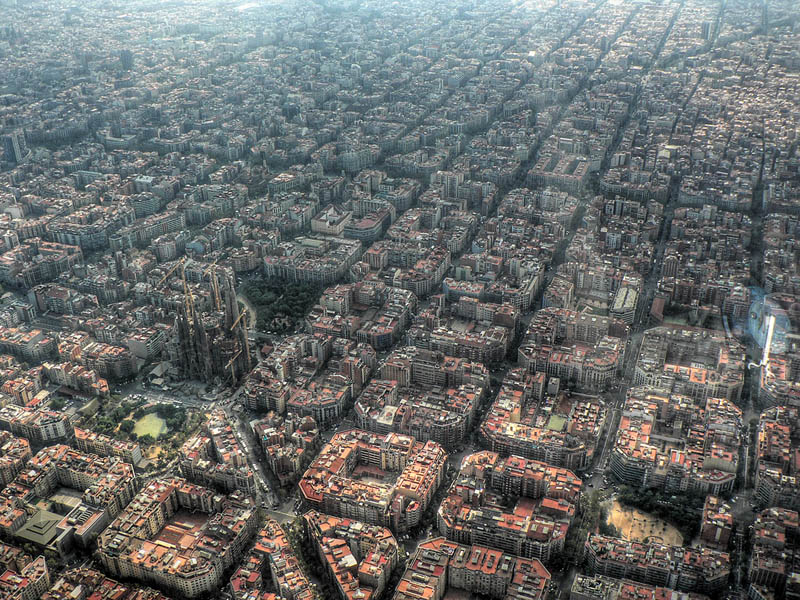 barcelona spain aerial from above Picture of the Day: Epic Aerial of Barcelona, Spain