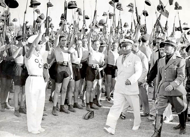benito mussolini and fascist blackshirt youth in 1935 in rome This Day In History   April 27th