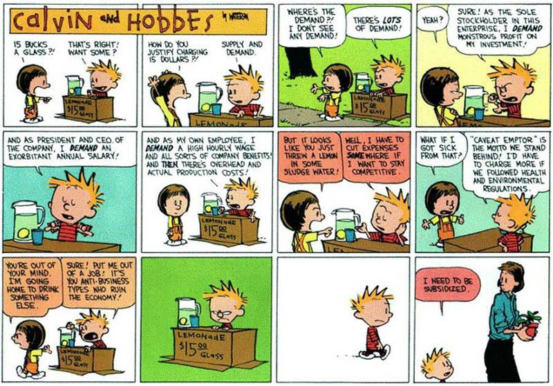 Subsidies [Comic Strip]