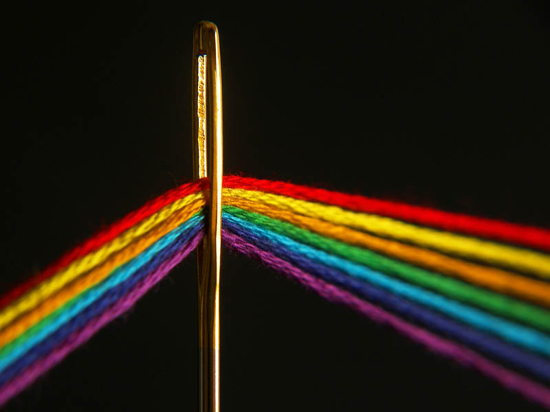 dark side of the loom pink floyd album out of thread Picture of the Day: Dark Side of the Loom!
