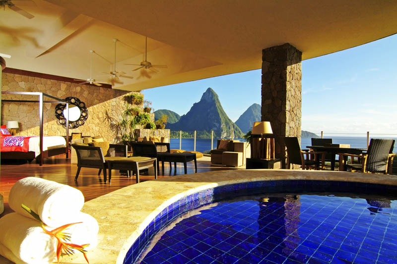 Jade Mountain Where All Rooms Have Infinity Pools