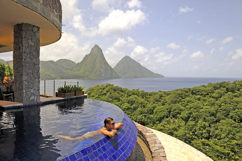 jade mountain st lucia infinity pool every room 12 Jade Mountain: Where All Rooms Have Infinity Pools