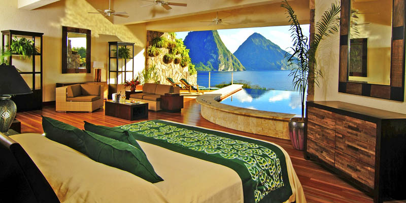 jade mountain st lucia infinity pool every room 16 This Divers Paradise is Built on a Rock and Surrounded by Reef