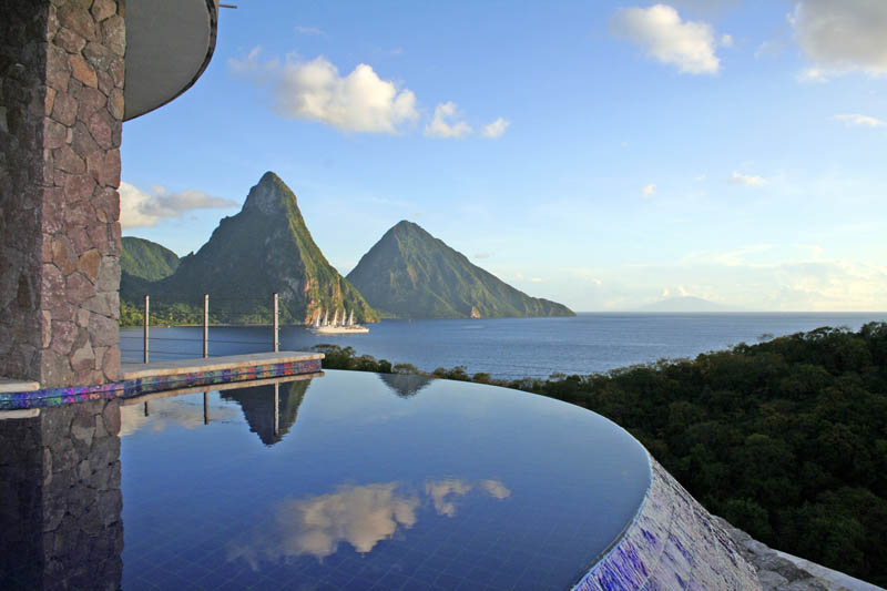 jade mountain st lucia infinity pool every room 24 Jade Mountain: Where All Rooms Have Infinity Pools