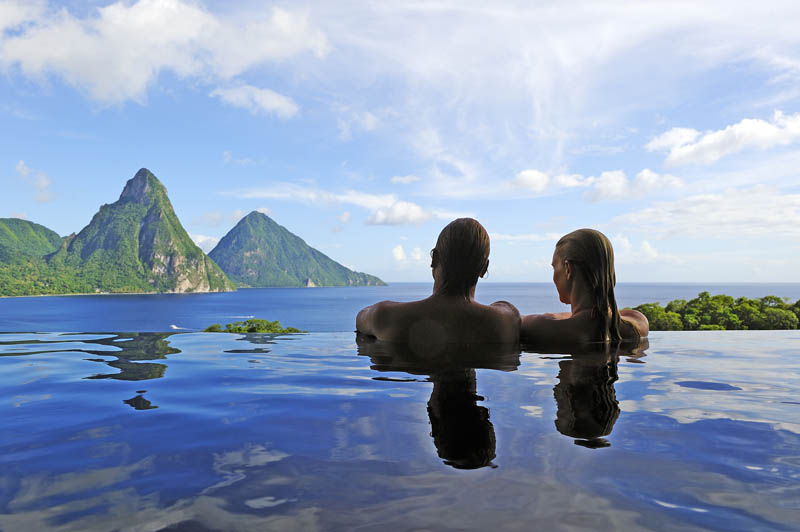 jade mountain st lucia infinity pool every room 25 Jade Mountain: Where All Rooms Have Infinity Pools