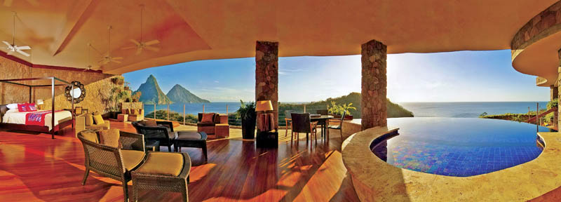 jade mountain st lucia infinity pool every room 27 Jade Mountain: Where All Rooms Have Infinity Pools