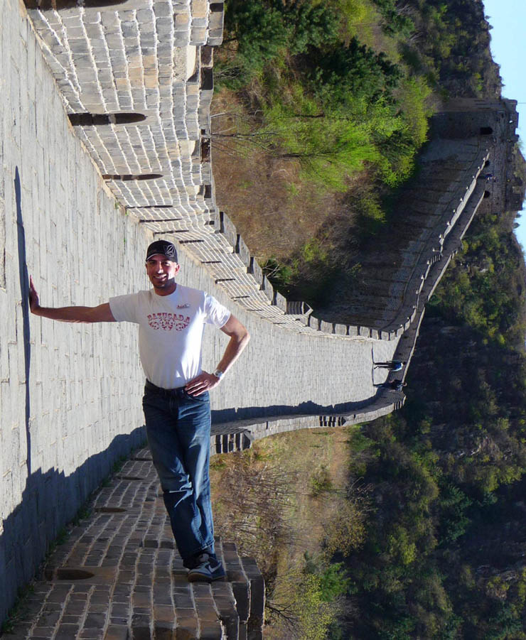 leaning standing on the great wall of china sideways The Friday Shirk Report   Volume 104