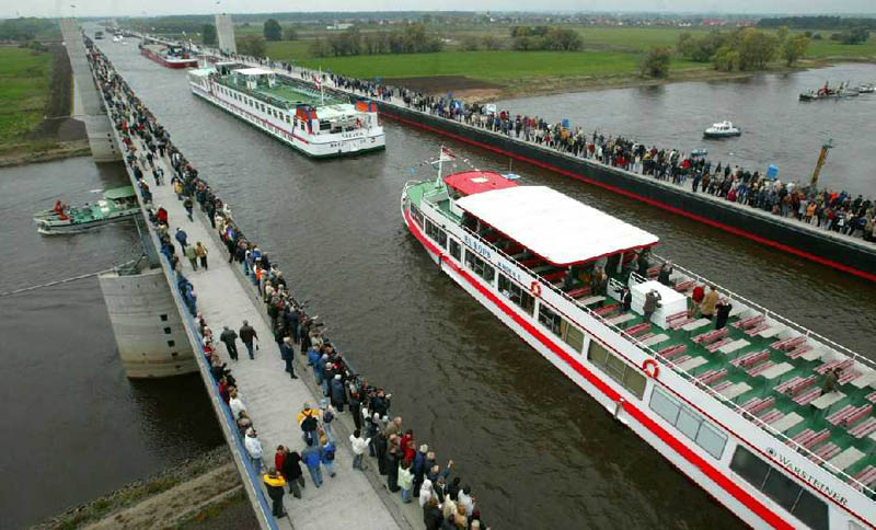 magdeburg water bridge germany Picture of the Day: Incredible Water Bridge in Germany