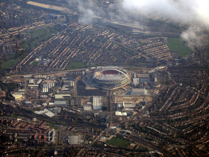 new wembley stadium aerial 25 Incredible Aerial Photos of Stadiums Around the World