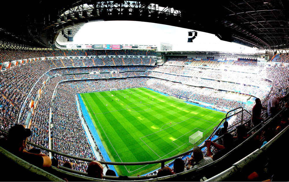 santiago bernabeu real madrid stadium 25 Incredible Aerial Photos of Stadiums Around the World