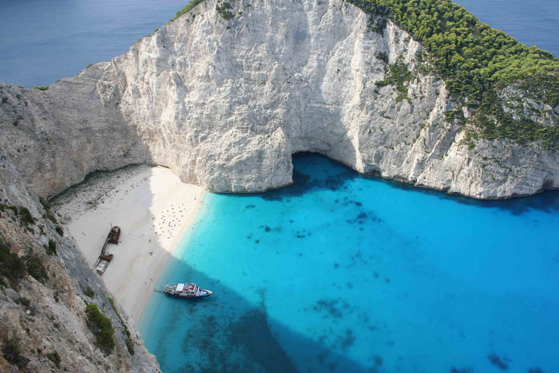 shipwreck beach on the island of zakynthos greece 25 Haunting Shipwrecks Around the World