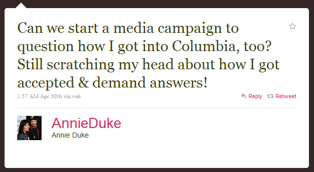 annie duke humblebrag The 50 Funniest Humble Brags on Twitter