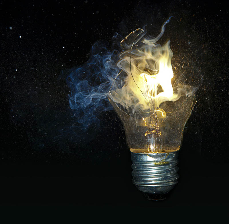 exploding smashed broekn lightbulb Picture of the Day: An Explosive Idea
