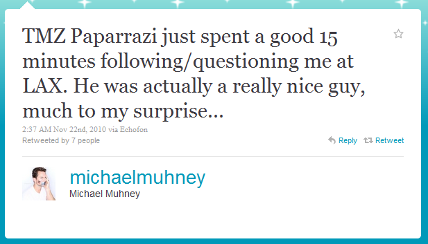 from Hezekiah michael muhney is he really gay