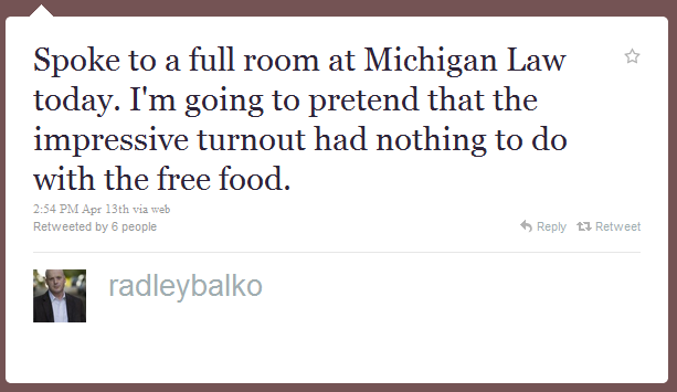 radley balko humblebrag The 50 Funniest Humble Brags on Twitter