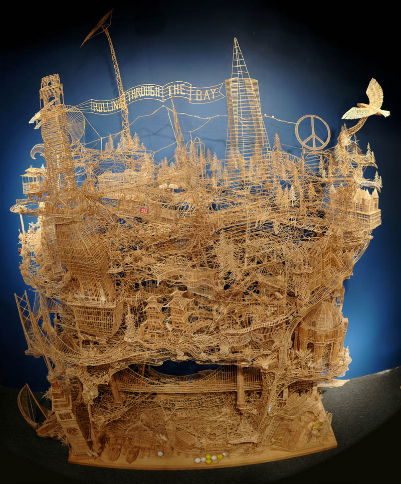 Kinetic San Francisco by Scott Weaver: 35 Years & 100,000 Toothpicks