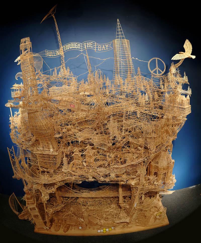 san francisco toothpicks scott weaver rolling through the bay 1 Kinetic San Francisco by Scott Weaver: 35 Years & 100,000 Toothpicks