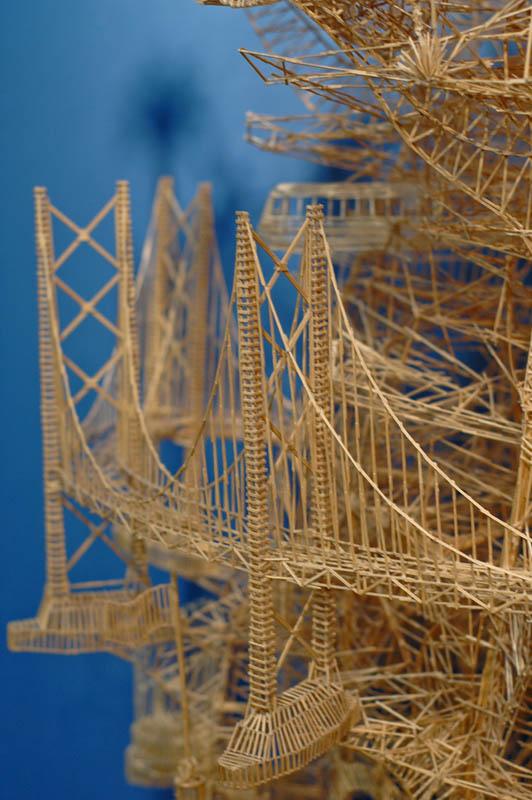 san francisco toothpicks scott weaver rolling through the bay 10 Kinetic San Francisco by Scott Weaver: 35 Years & 100,000 Toothpicks