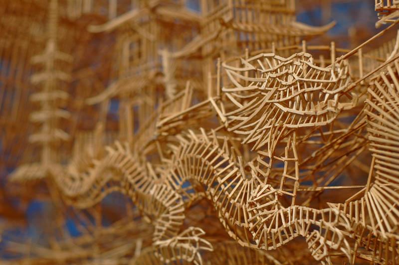 san francisco toothpicks scott weaver rolling through the bay 12 Kinetic San Francisco by Scott Weaver: 35 Years & 100,000 Toothpicks