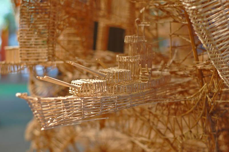 san francisco toothpicks scott weaver rolling through the bay 15 Kinetic San Francisco by Scott Weaver: 35 Years & 100,000 Toothpicks