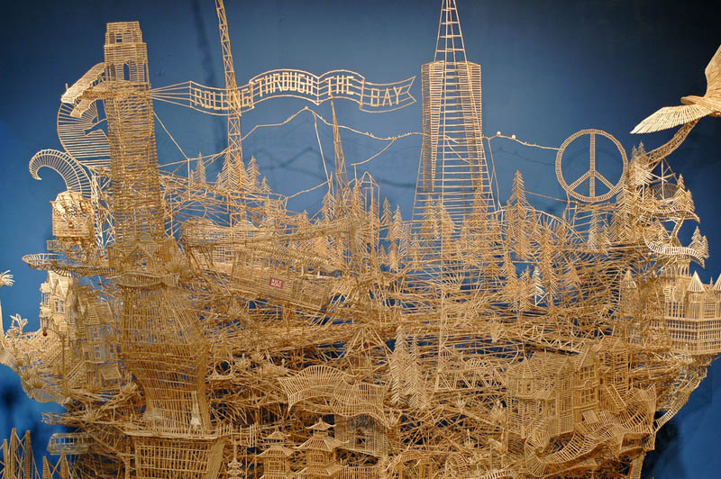san francisco toothpicks scott weaver rolling through the bay 2 Kinetic San Francisco by Scott Weaver: 35 Years & 100,000 Toothpicks
