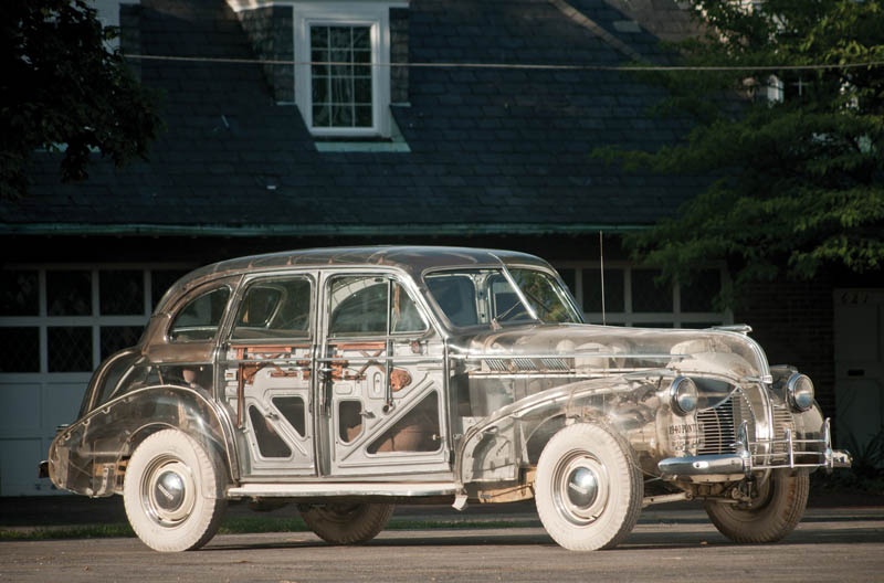 1939 pontiac plexiglass ghost car see through 12 This Guy Used 50,000 Pieces of Wood and Made Himself a Wooden Beetle