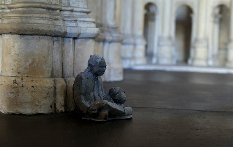 cement miniature sculptures artist isaac cordal 18 Cleverly Placed Miniature Cement Sculptures by Isaac Cordal
