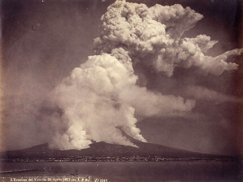 eruption of mount vesuvius on 26th of june 1872 30 Incredible Photos of Volcanic Eruptions