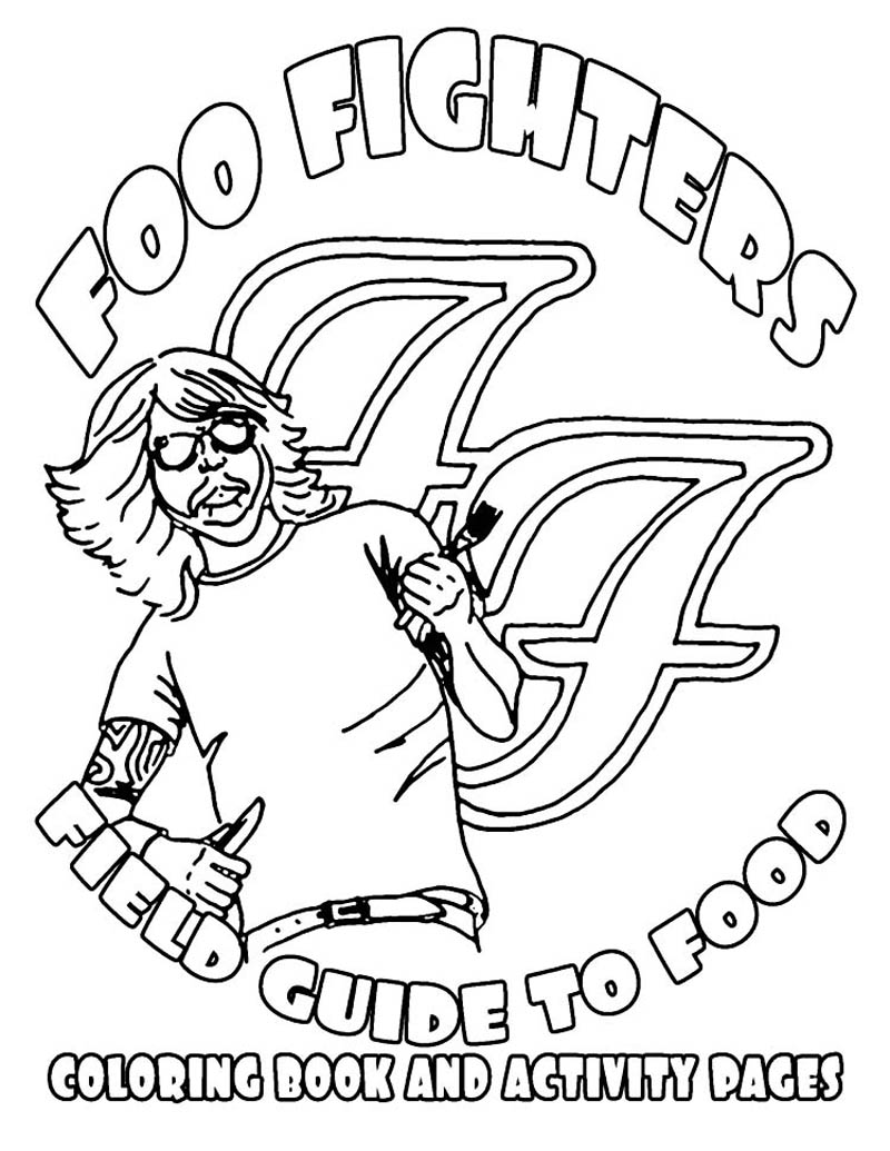 Foo Fighters Illustrated Rider Food Coloring Book 3 The Hilarious Tour